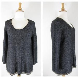 Soft Surroundings Knit Tunic Sweater Chain Detail